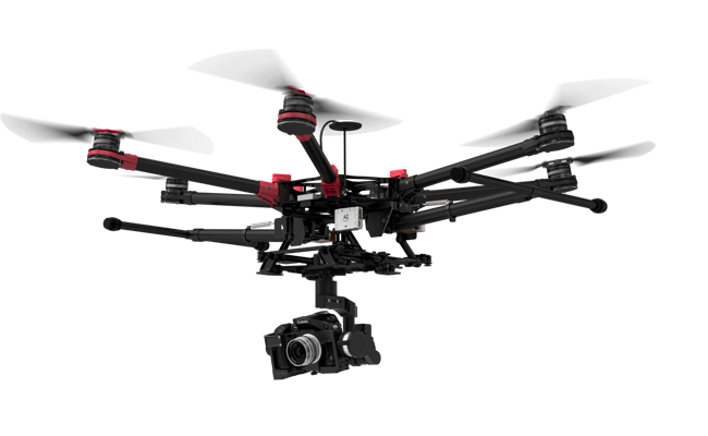 DJI Spreading Wings S900 Controller And Gimbal