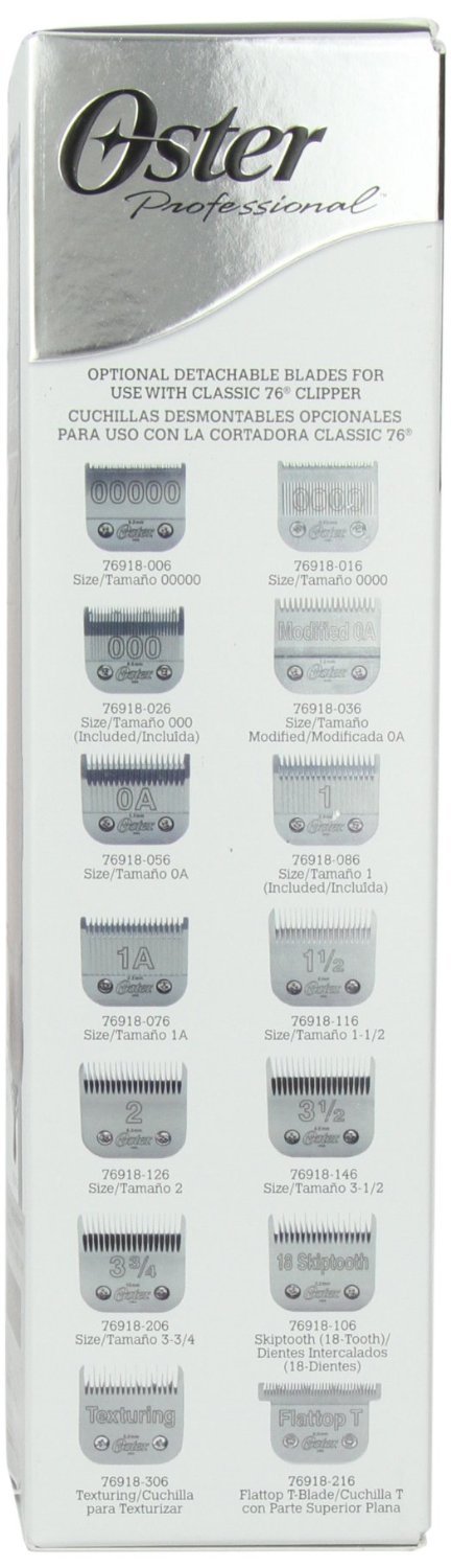 OSTER CLASSIC 76 PROFESSIONAL HAIR TRIMMER box2
